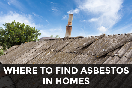 Where to find asbestos in homes